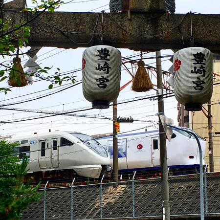 豊崎神社は意外と「鉄」ポイントです!